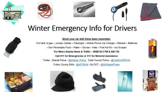 Winter Emergency Info for Drivers